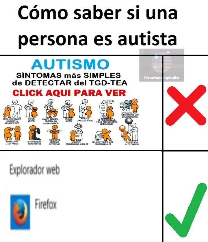 Firefox = mierda - meme