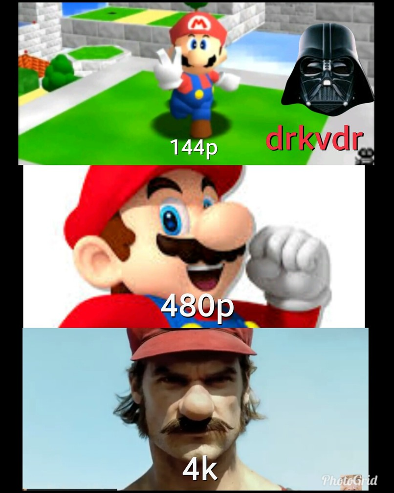 evolución de mario - meme