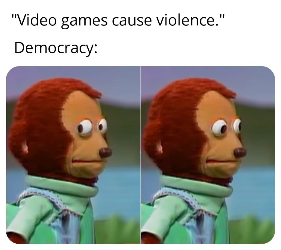 Democracy in 3rd world country be like - meme