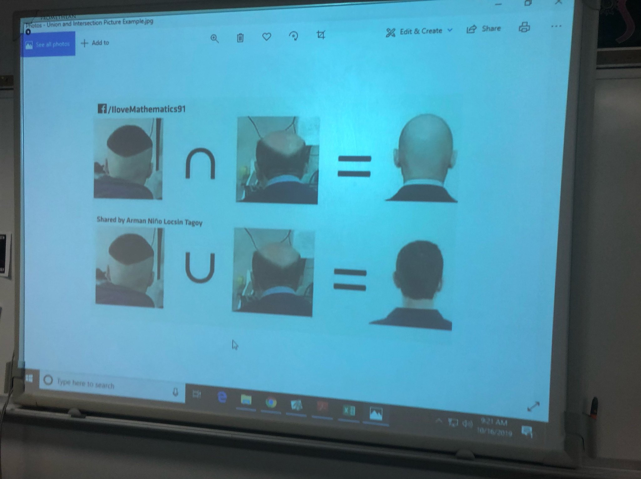 when your a bald math teacher - meme
