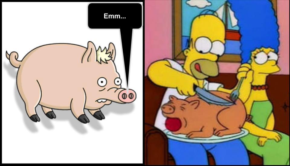 Cerdo: Emm... - meme