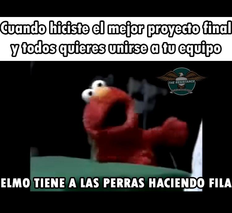 elmo tiene prras >:v - meme