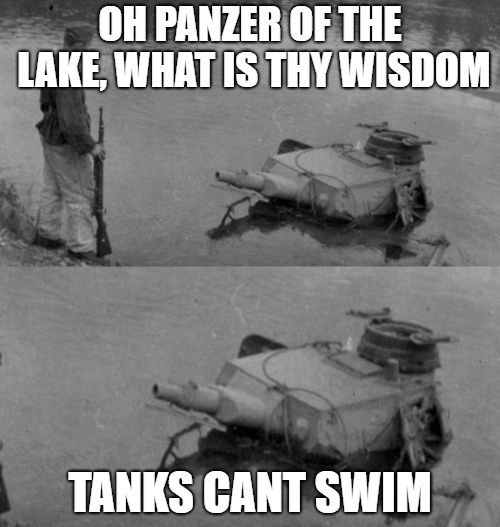lake panzer - meme
