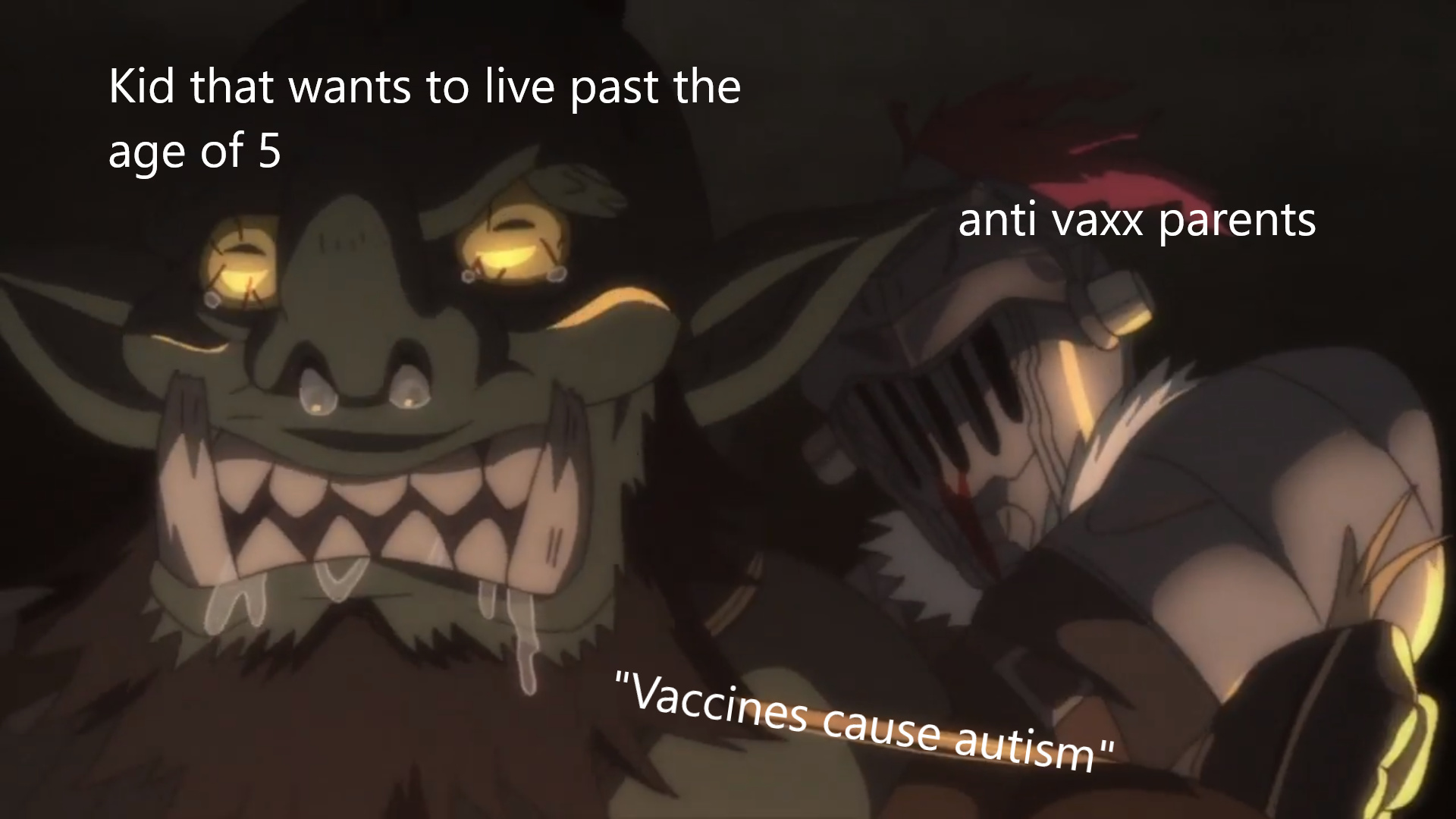 """but vaccines cause autism!"" - meme"