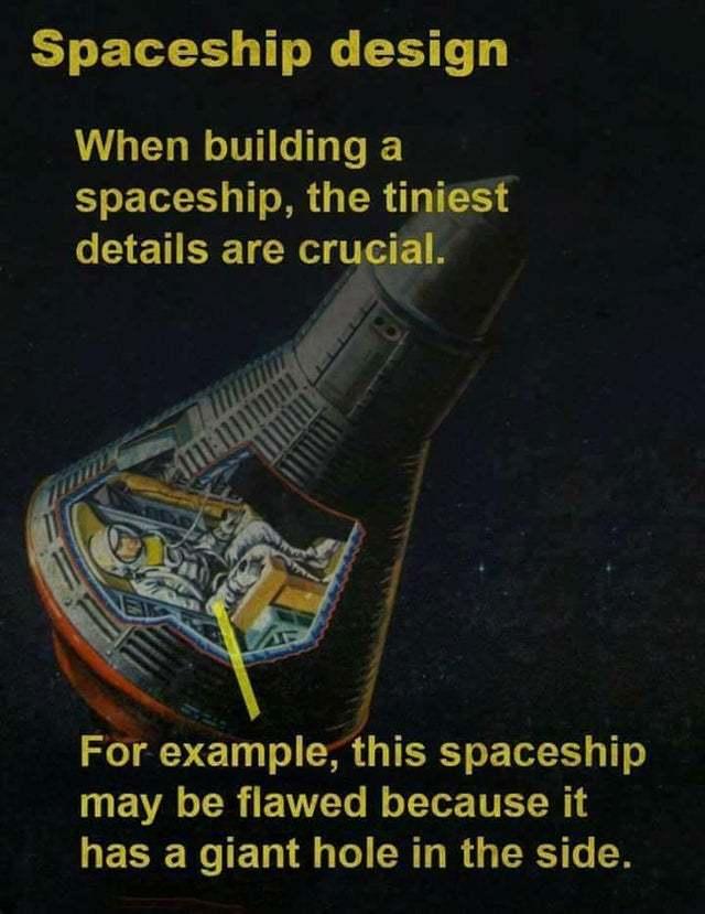 Spaceship design - meme