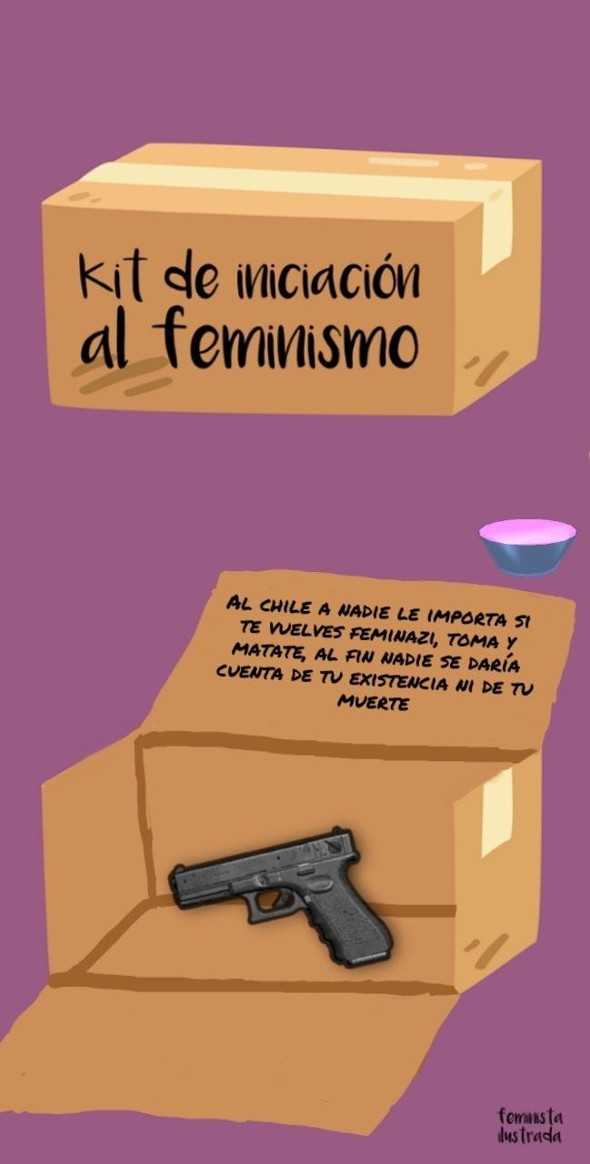 Matense feministas de mierda - meme