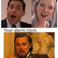 An alarm can ruin anything