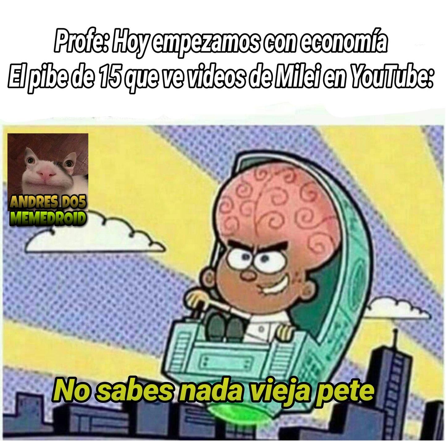 Yo se mucho de economía porque veo videos en YouTube :genius: - meme