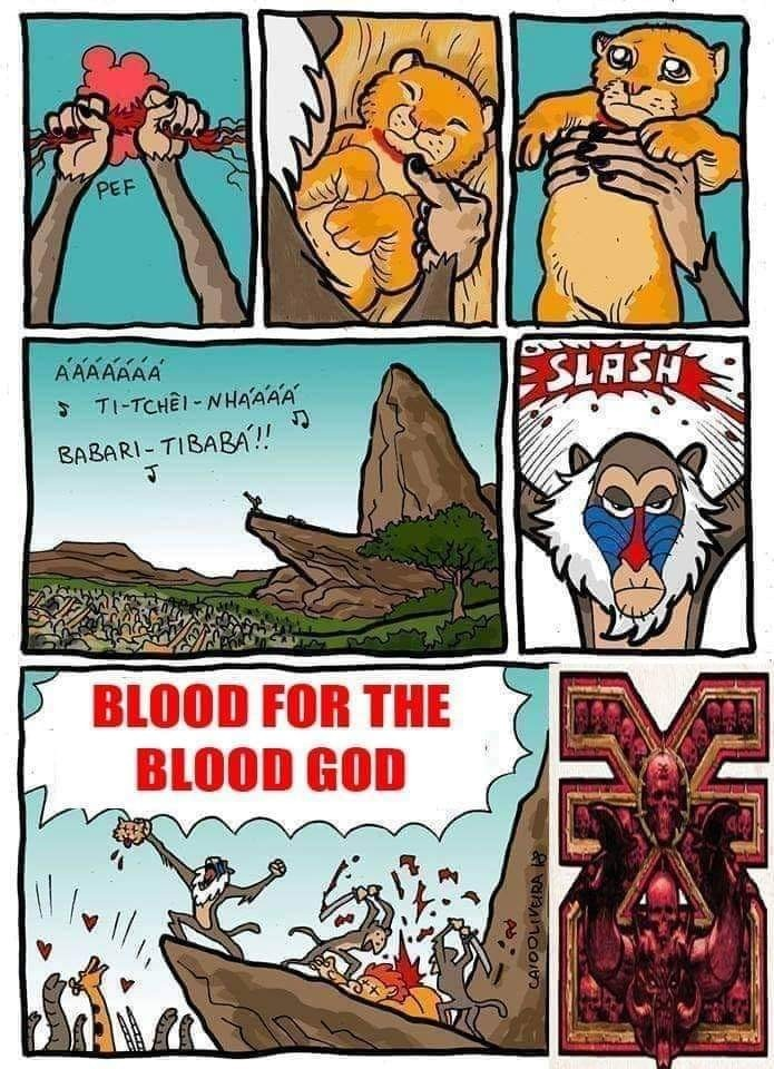 Blood for the blood god - meme