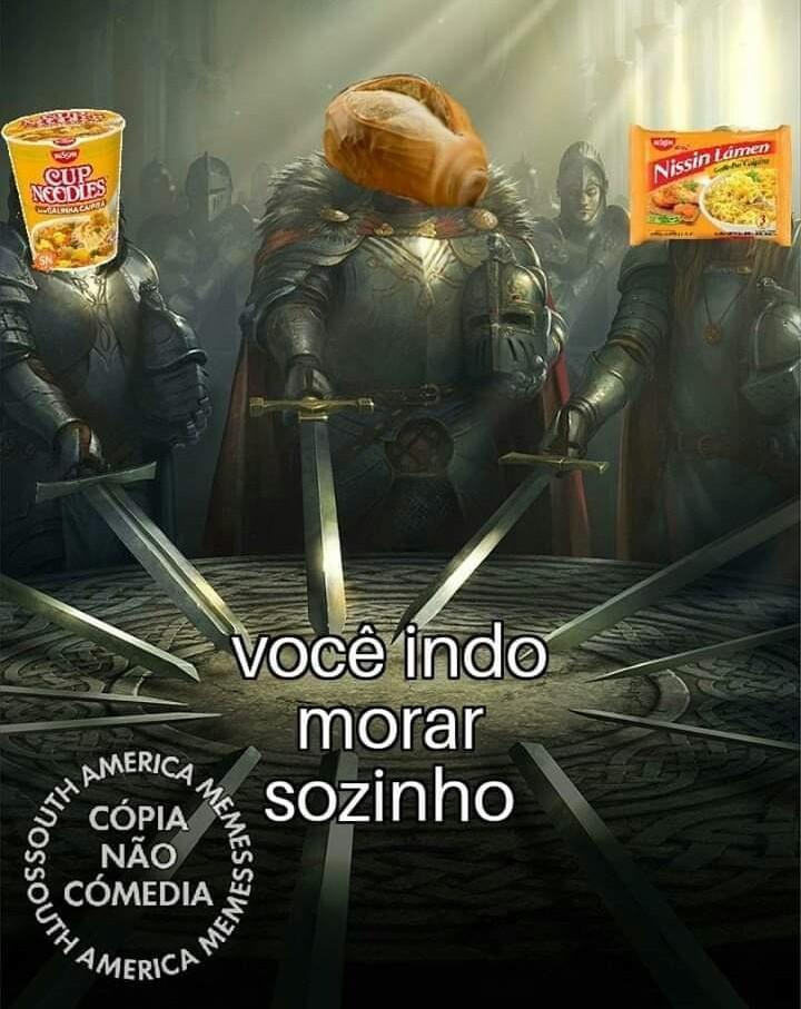 Macarrão instantâneo - meme