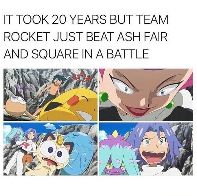 Ash somehow got even younger - meme