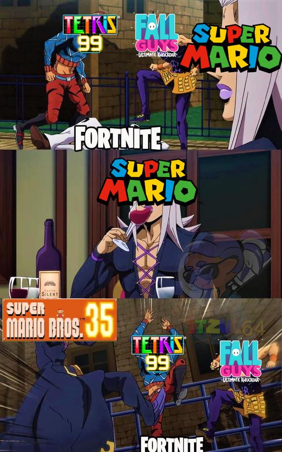 Ahora Mario entro al mame de los battle royale - meme