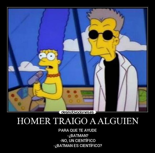 Homer y batman - meme