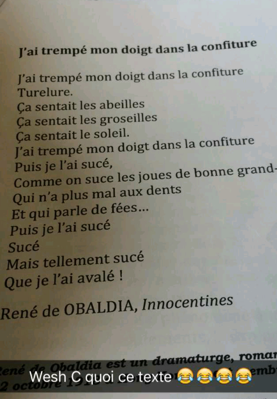 Après Jean Mouloud, un texte éducatif pour 5ème - meme