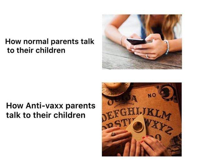 Ho Anti-vaxx parents talk to their children - meme