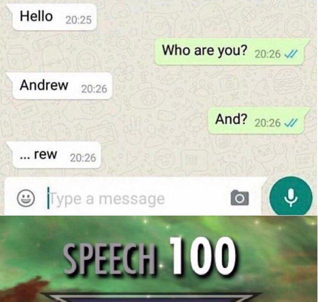 Hi I'm Andrew - meme