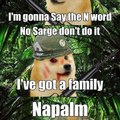 NO SARGE!