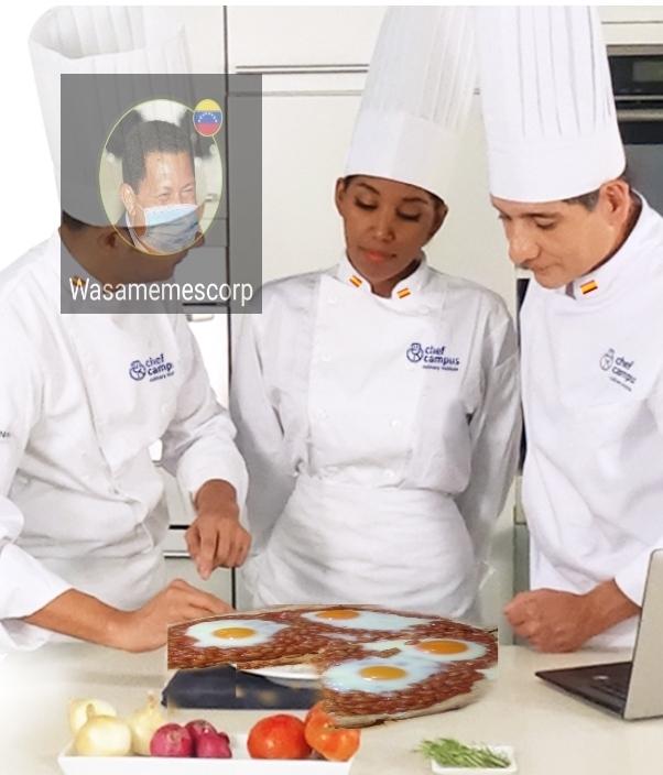 Chef= Pizza de frijoles y huevo - meme