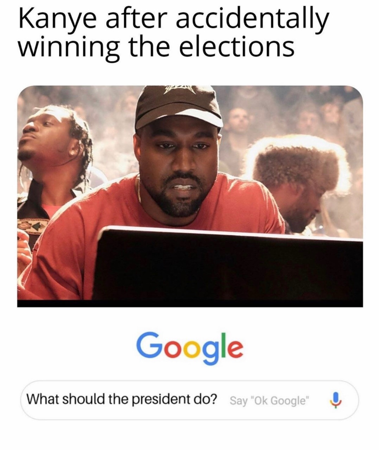 why is he even running for president lmaoo - meme