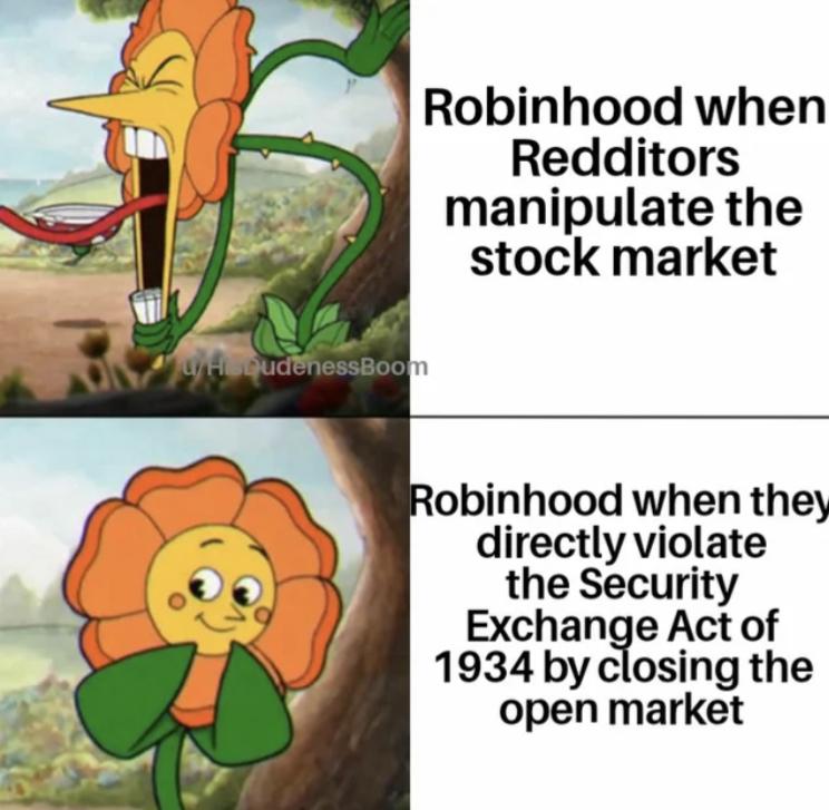 F robinhood - meme