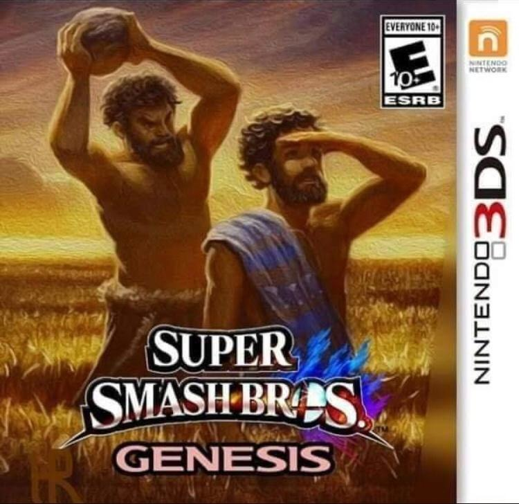 Actually a fighting game based on the bible would kick ass. - meme