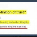 now that's trust