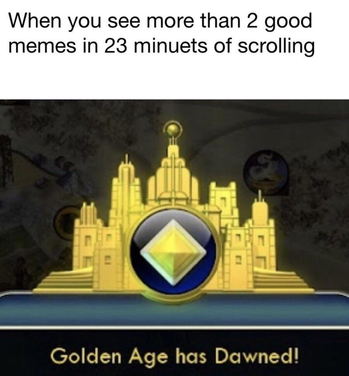 Truly a rare occurrence. - meme