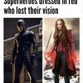 Superhero who lost vision