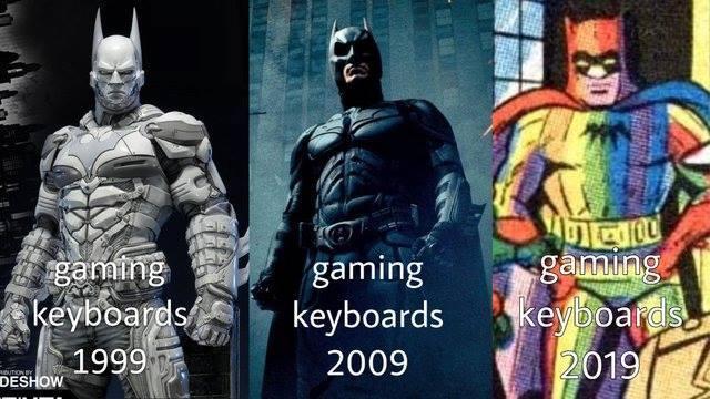 Gaming Keyboards Through the Years - meme
