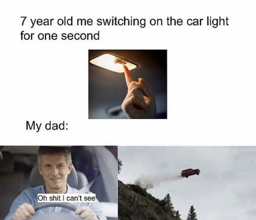 Blinded by the light - meme