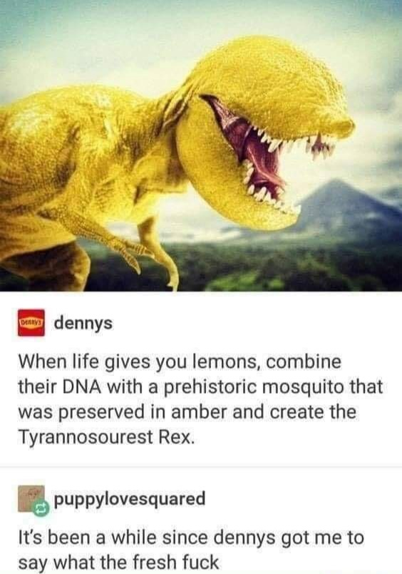 That's a sour-saurus - meme
