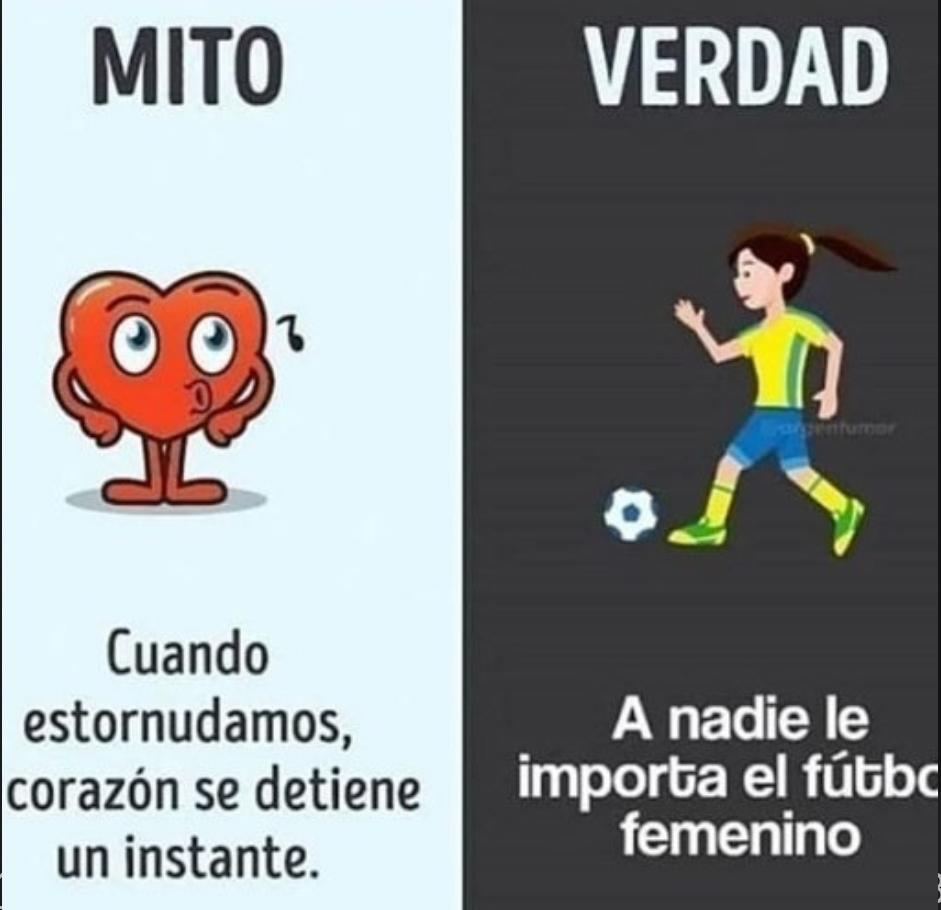 A nadie le importa el fútbol femenino ni aunque seas mujer no te importa - meme