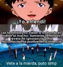 Perdón por el formato de anime, había visto un meme feminista y no pude resistirme
