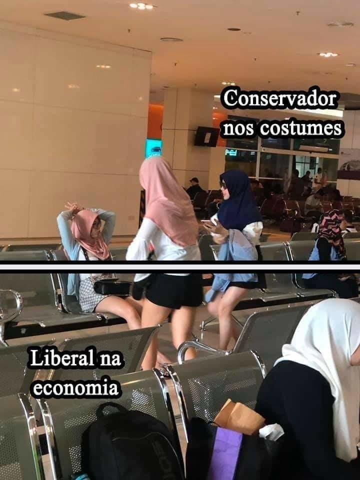 Conversador nos costumes, liberal na putaria :son: - meme