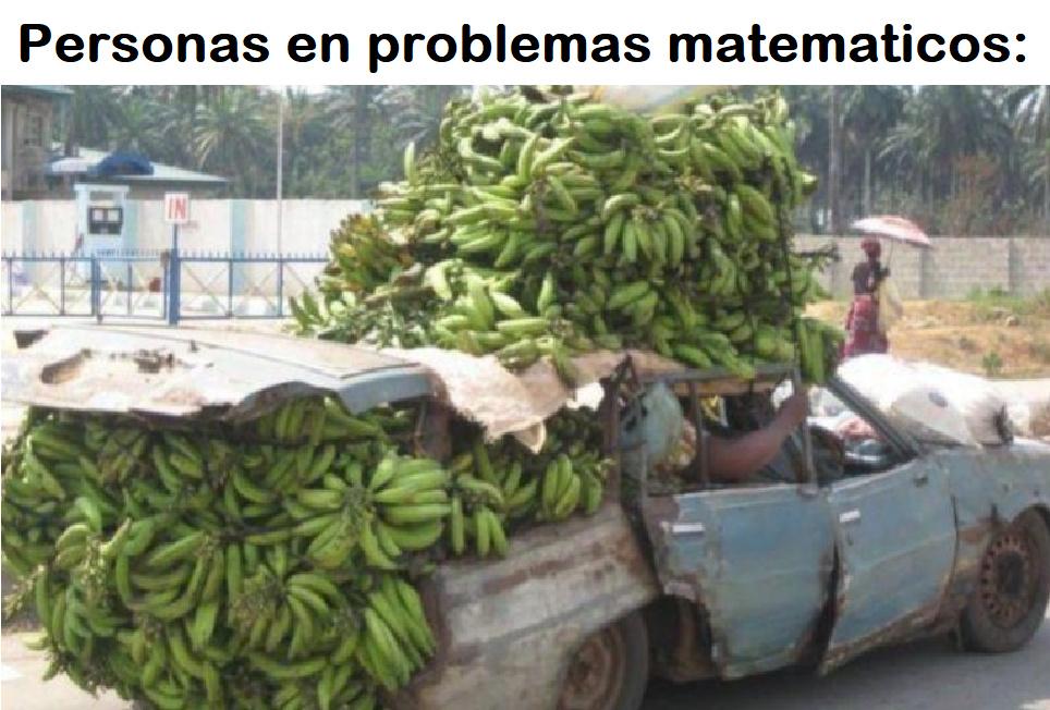 personas en problemas matemáticos - meme