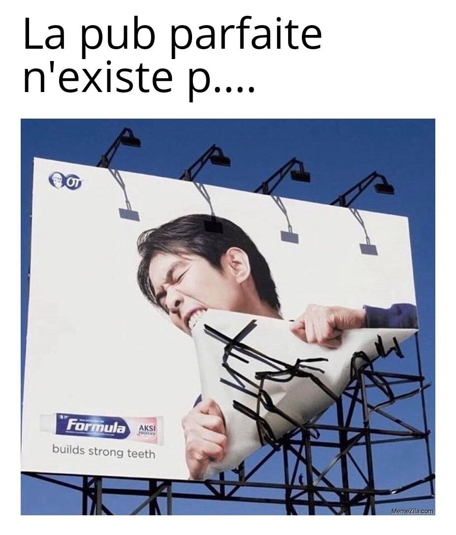Le boss final des affiches publicitaires - meme