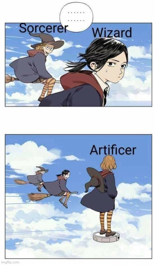 Artificer is more of a magic engineer than a spell caster - meme