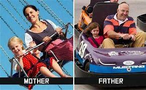 mom vs dad - meme