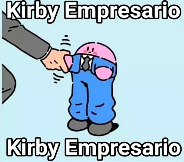 Kirby empresario - meme