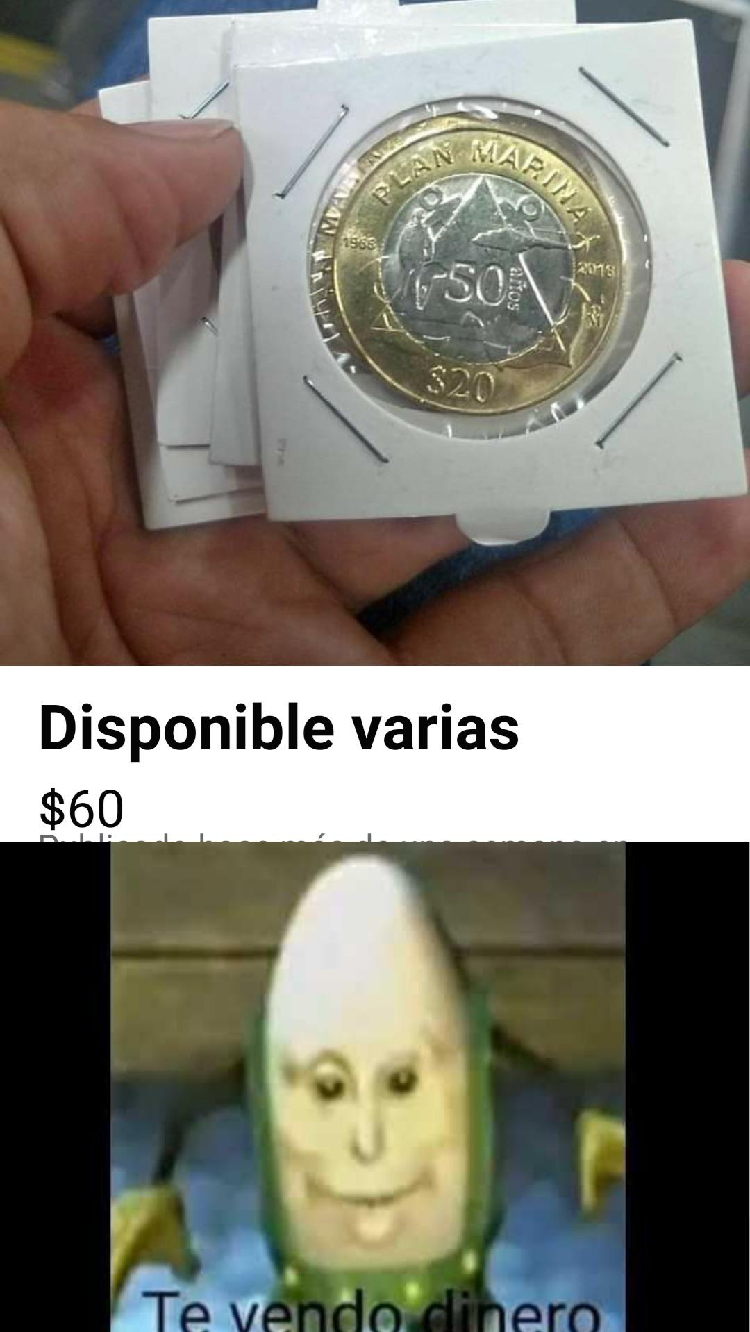 Te vendo dinero - meme