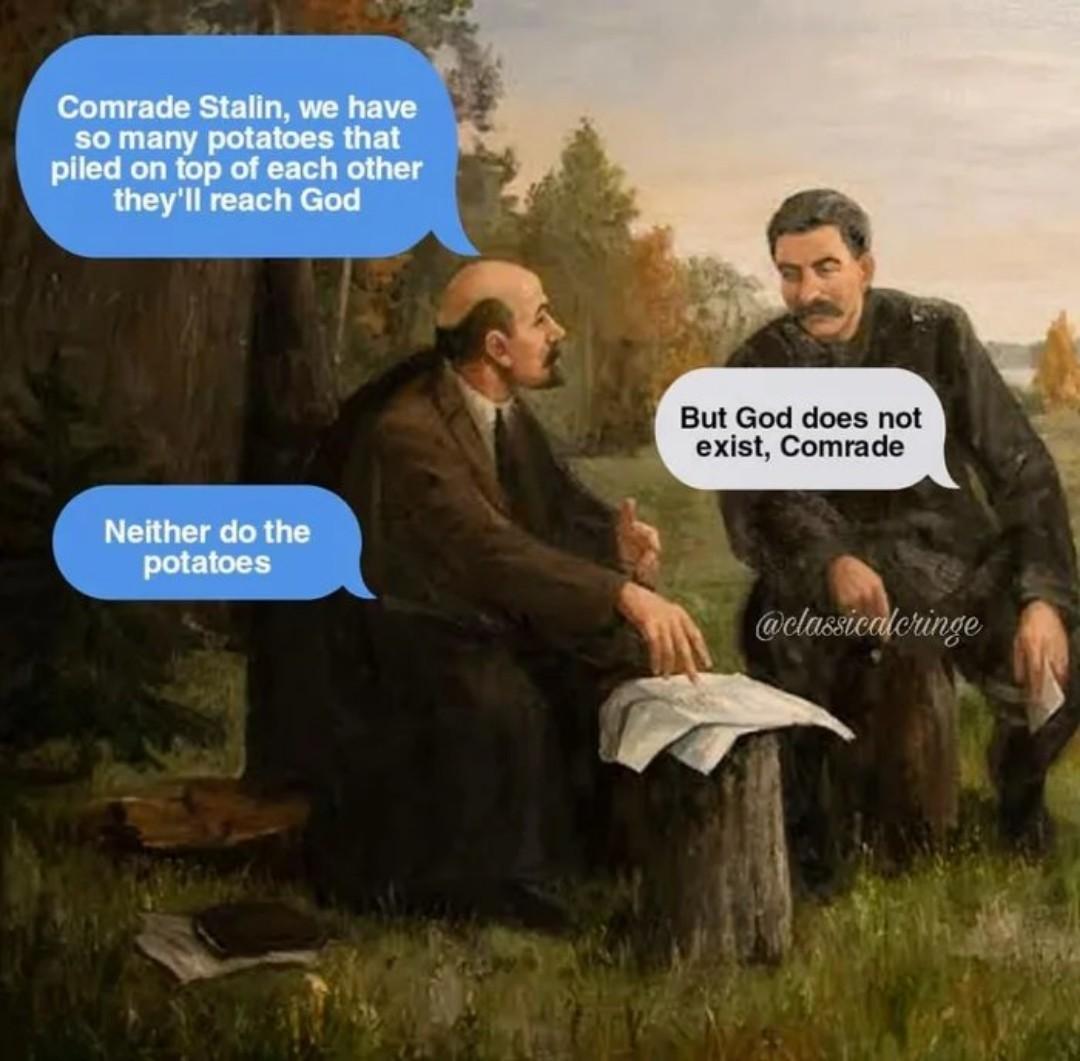 Lenin & Stalin be like - meme
