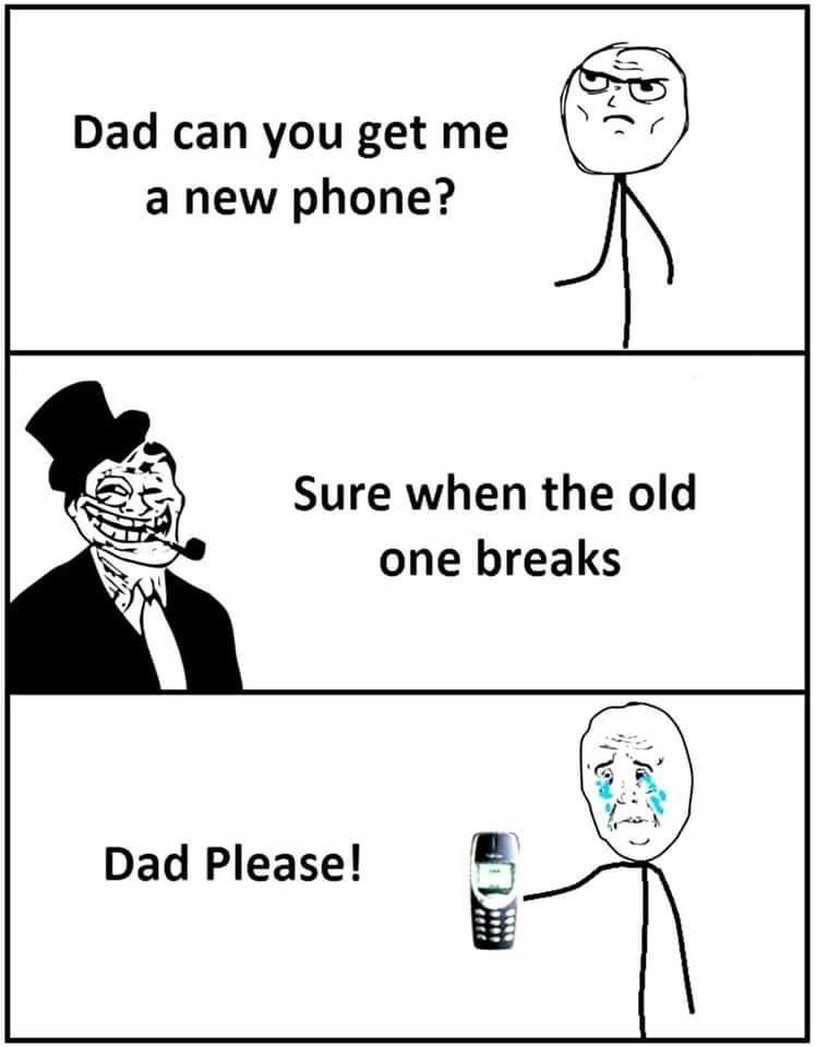 My dad bullies me - meme