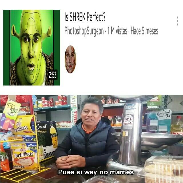 Shrek Dios matafurros es hermoso - meme