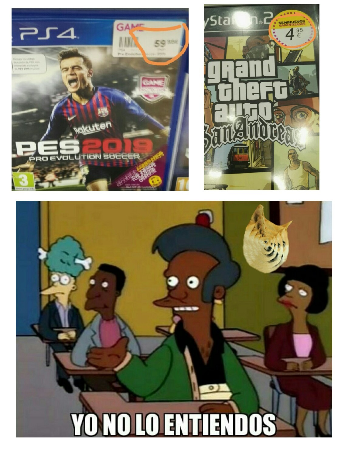 Re100 horneado del Game - meme