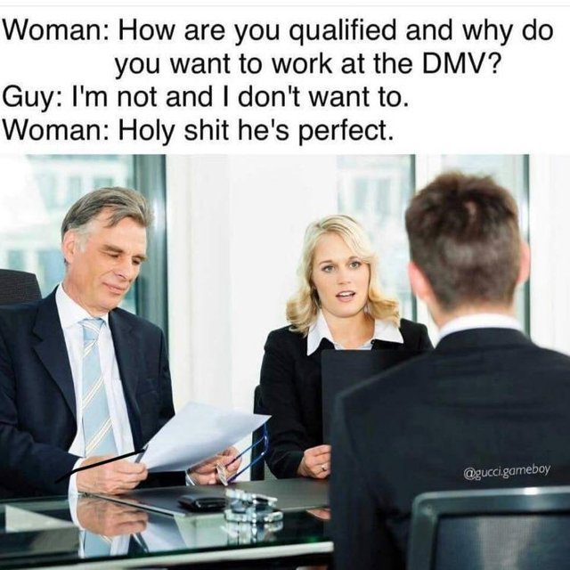 Job interview - meme