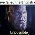 """""""Você falhou no exame de inglês"""""""