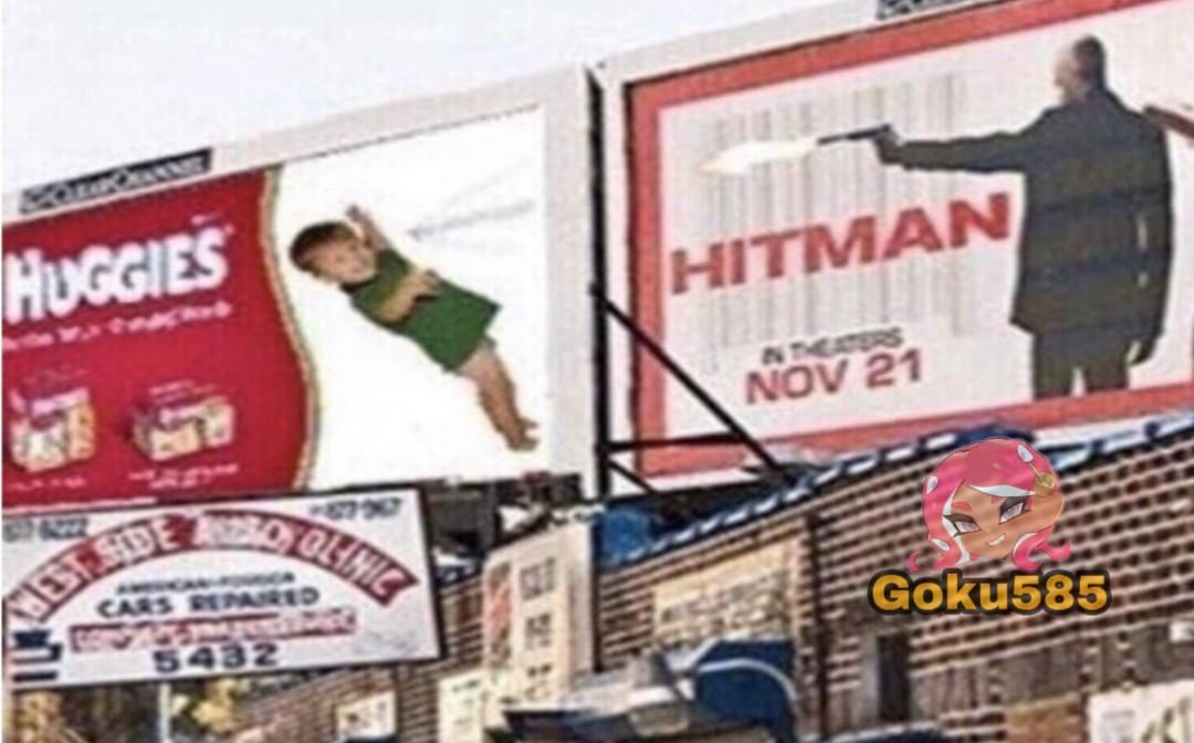 Agente 47 vs el hijo de keannu revves - meme