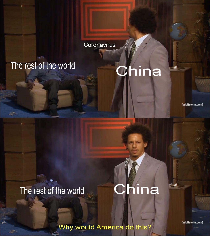 China Blames America - meme