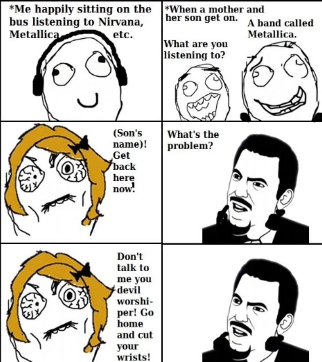 Nirvana or Metallica? which is better? - meme