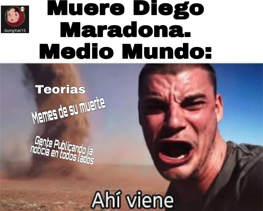 Te lo juro por Dieguito Maradona - meme